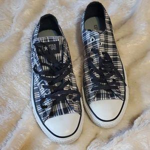 Plaid Converse all-star women's shoes